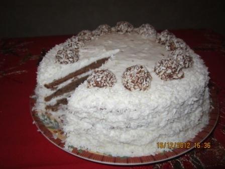 Как украсить торт кокосовой стружкой и